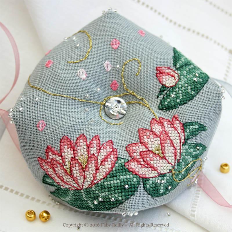 Pink Lotus Biscornu