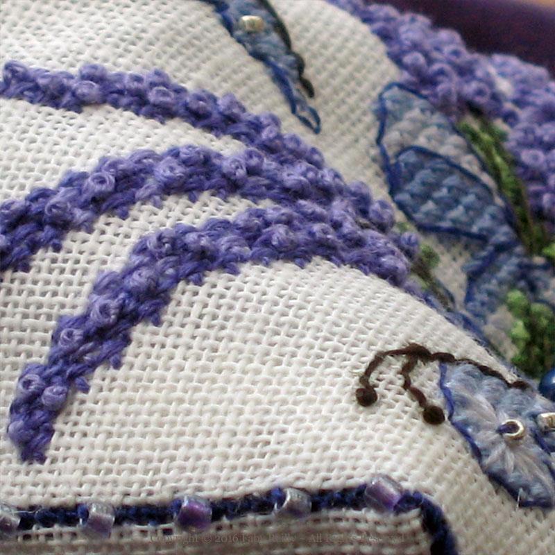 Lavender Biscornu - Faby Reilly Designs