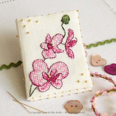 Plum Orchid Needlebook - Faby Reilly Desgins
