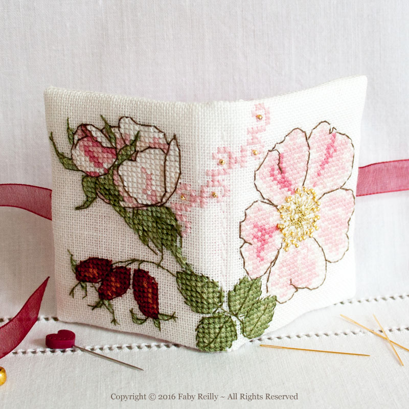 Wild Rose Needlebook