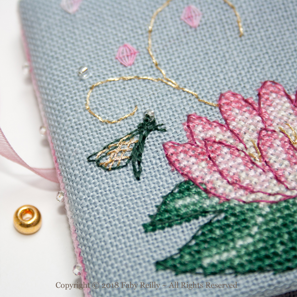 Pink Lotus Needlebook – Faby Reilly Designs