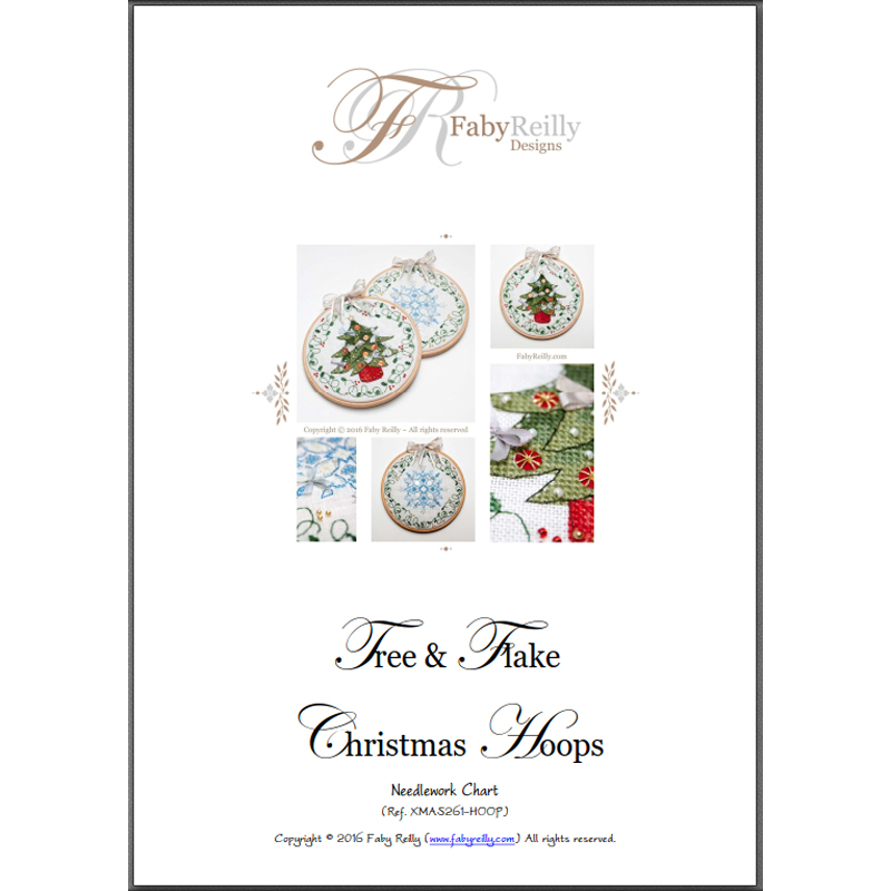 Tree and Snowflake Hoops Chart Cover - Faby Reilly Designs