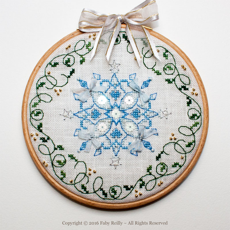 Snowflake Hoop – Faby Reilly Designs
