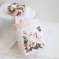 Apple Blossom Biscornu with matching thread catcher