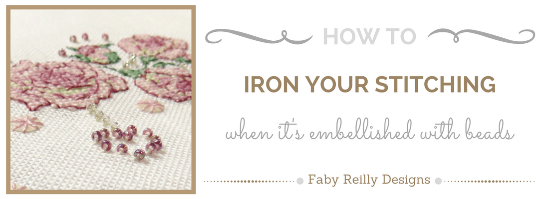 How to iron your stitching, when it's embellished with beads