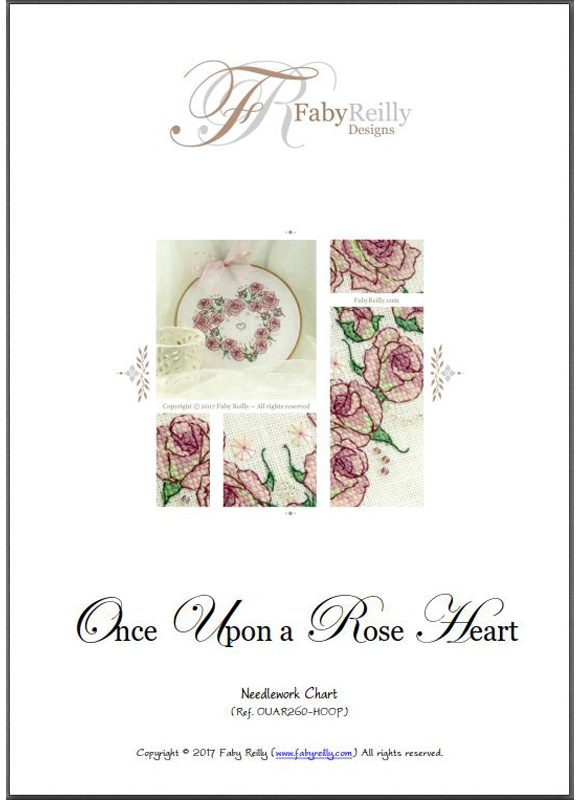Once Upon a Rose Heart pattern cover
