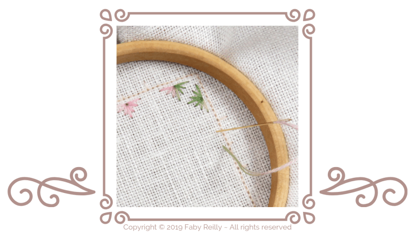 How to position your fabric onto a small embroidery hoop