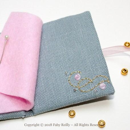 Pink Lotus Needlebook – Faby Reilly Designs