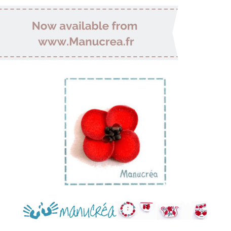 Manucrea for Faby Reilly Designs – Poppy Button