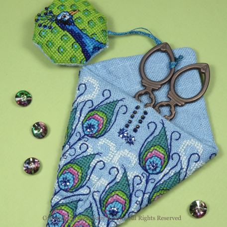 Peacock Scissor Case – Faby Reilly Designs