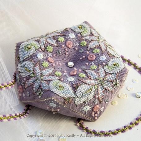 Wintry Blooms Biscornu - Faby Reilly Designs