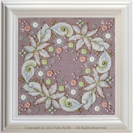 Wintry Blooms Biscornu – Faby Reilly Designs