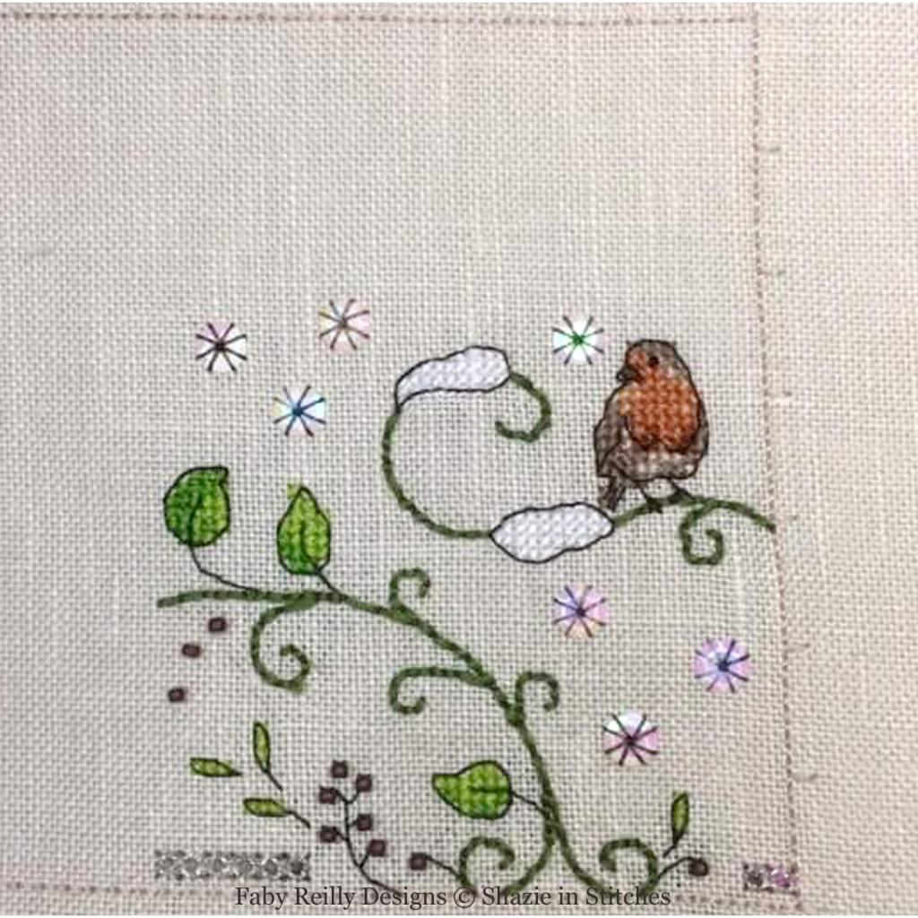 SAL Zoé Partie 1 (Platinum - model stitched by Shazie - www.shazieinstitches.co.uk)