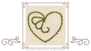 How to stitch even backstitch in 6 strands