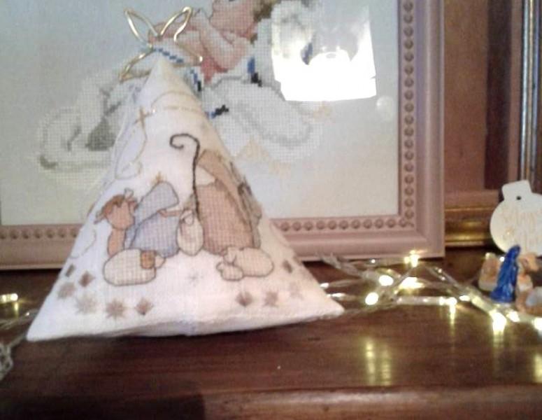 Nativity Humbug - stitched by Nathalie