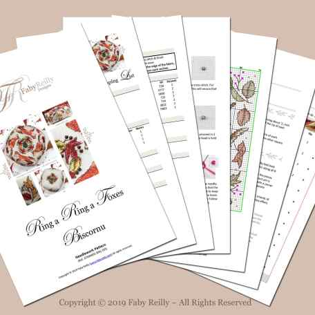 Foxes Biscornu – Faby Reilly Designs