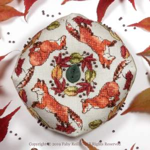 Foxes Biscornu - Faby Reilly Designs