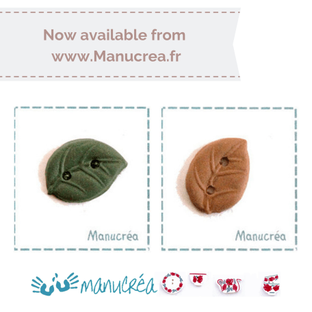 Manucrea for Faby Reilly Designs – Leaf buttons