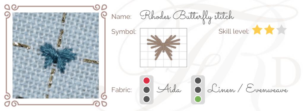 Rhodes Butterfly Stitch ID