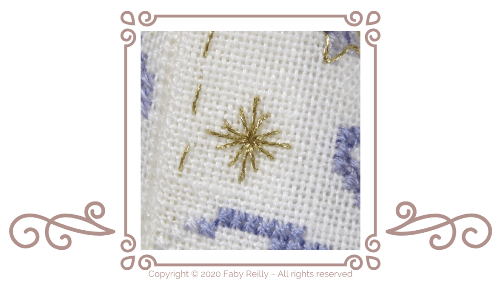 Diamond Eyelet stitch Tutorial - Faby Reilly Designs