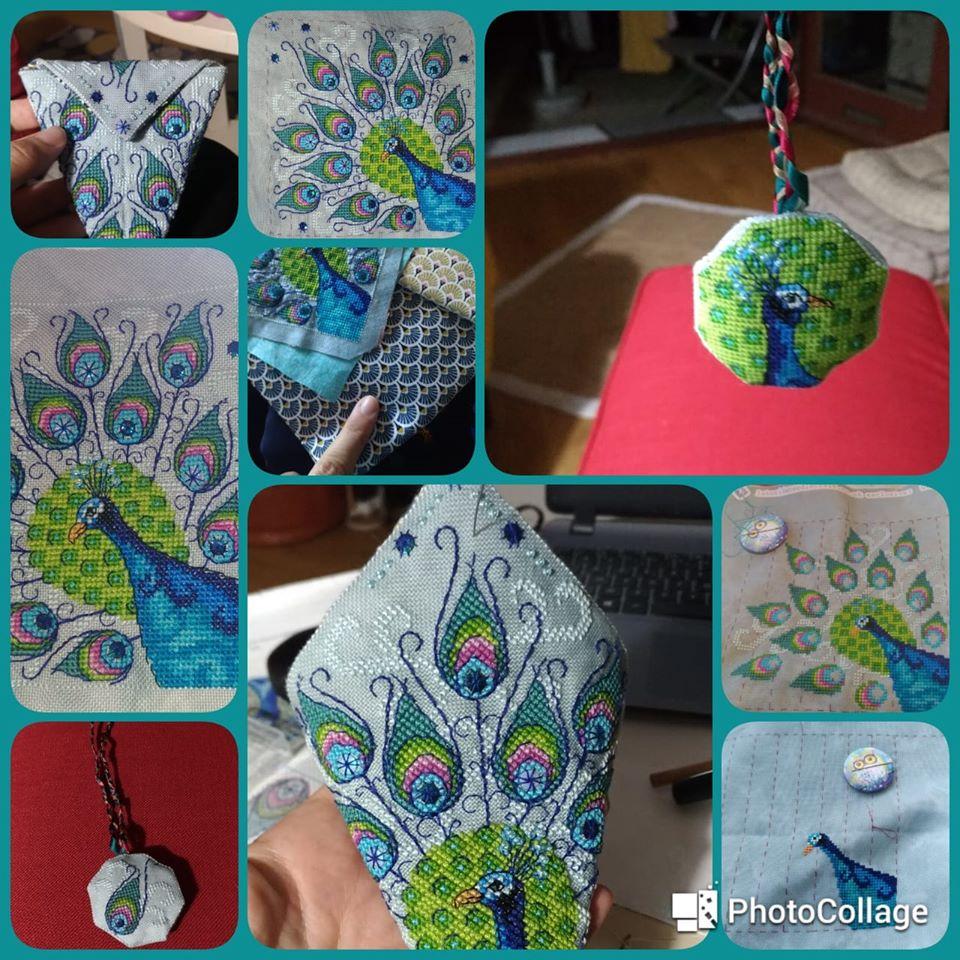 Peacock Scissor Case - Nathalie P