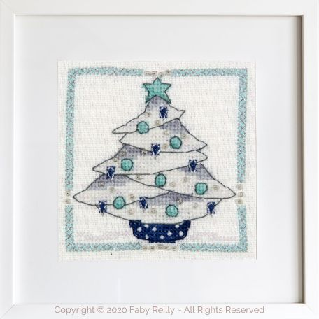 Navy and Mint Mini Frame 02A – Faby Reilly Designs