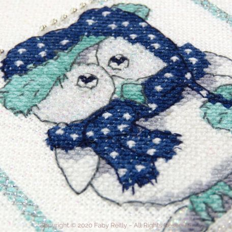 Navy and Mint Mini Frame 03B – Faby Reilly Designs