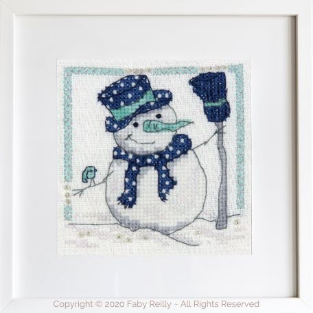Navy and Mint Mini Frame 05A – Faby Reilly Designs