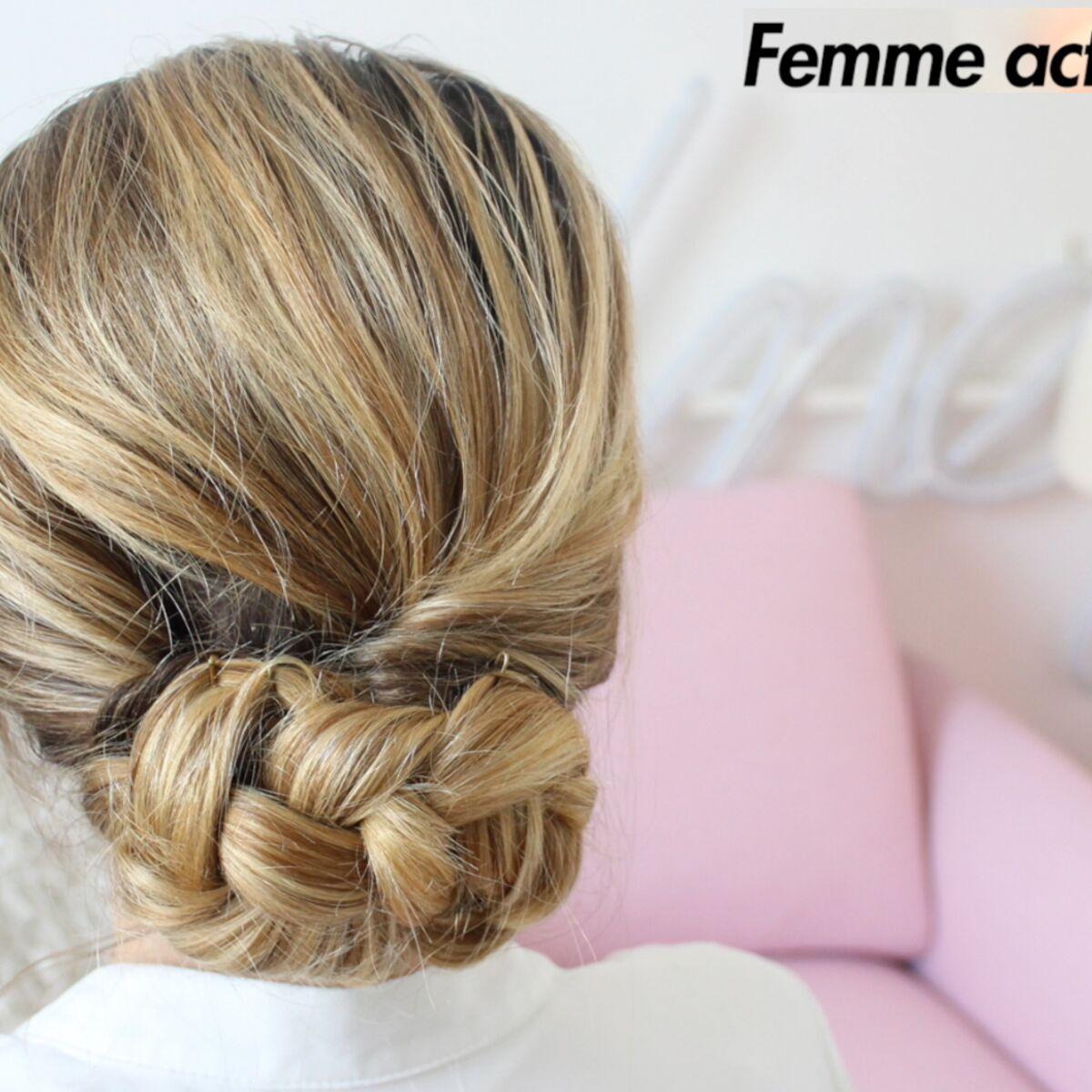 tutoriel coiffure le chignon bas