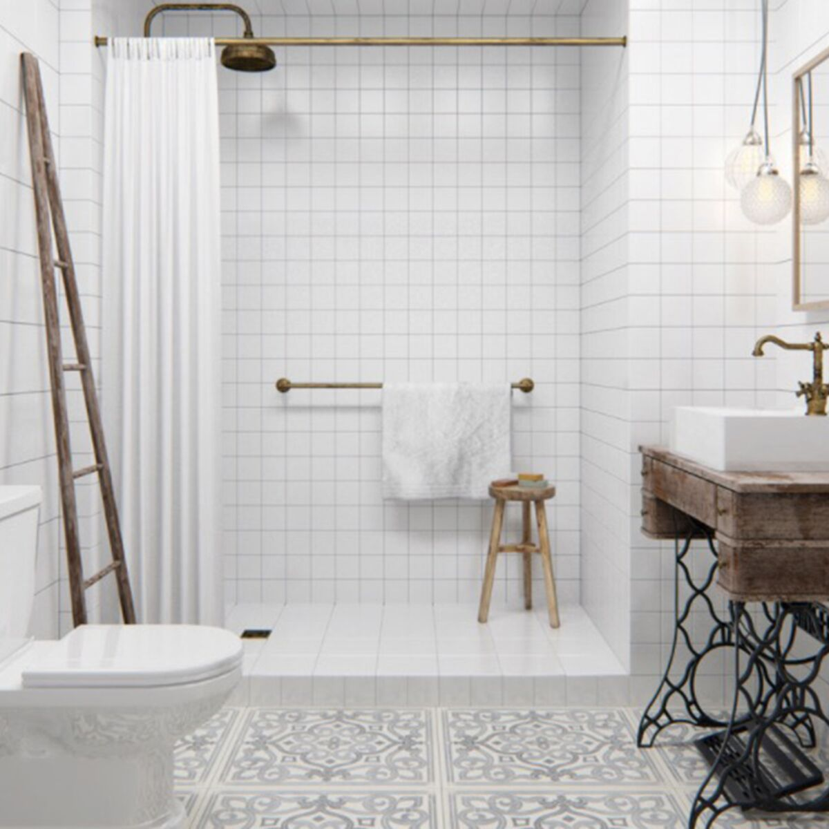 Deco De Salle De Bains 10 Meubles Anciens Detournes En Plan Vasque Femme Actuelle Le Mag