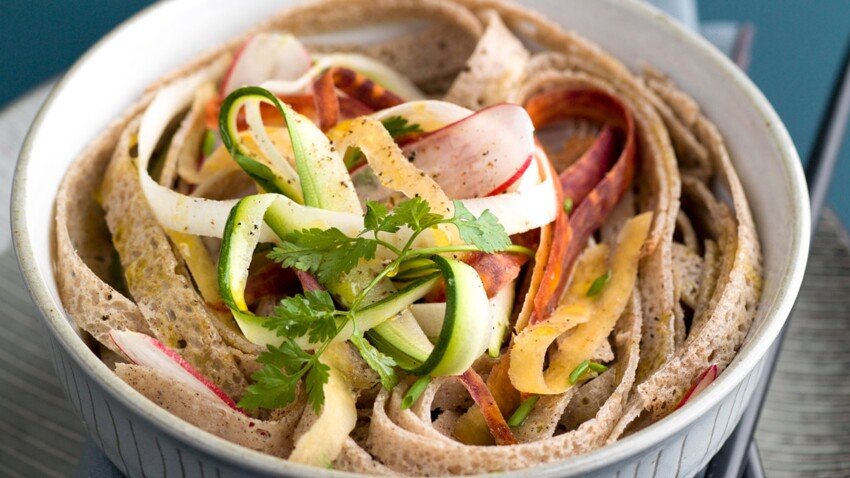 galettes facon soba et tagliatelles de legumes