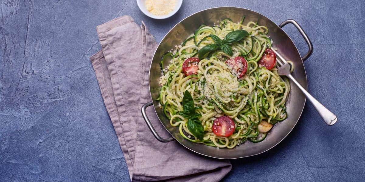 des spaghettis de courgette