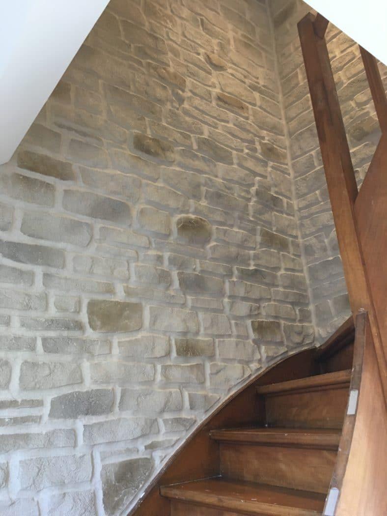 Enduit décoratif intérieur imitation pierre