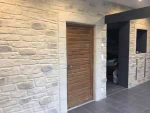 Rénovation intérieure, Enduit effet Pierre