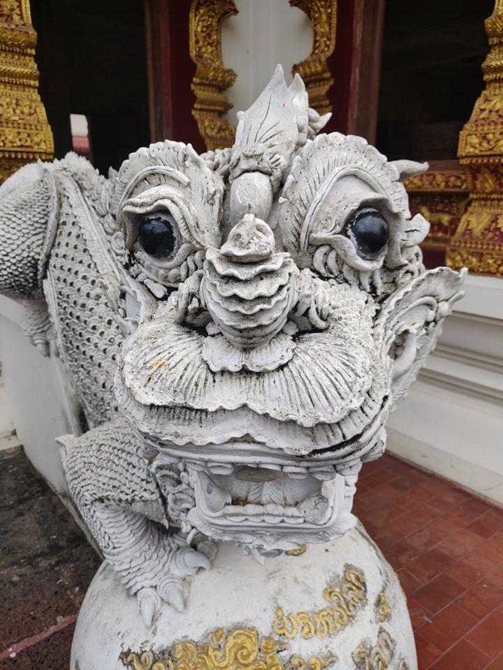 naga, naga chiang mai, drago bianco chiang mai, wat bupparam, Wat Bupparam in Chiang Mai, Thailandia, Chiang Mai, templi da vedere a chiang mai