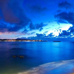 Beautiful Blue Seashore Facebook Cover Places