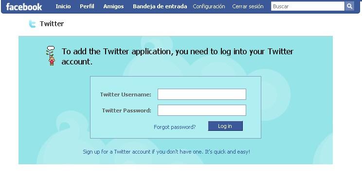 twitter 1 Usar Twitter desde Facebook