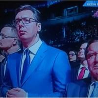 Врхунац бешчашћа: Вучић на годишњицу НАТО агресије довео Герхарда Шредера да говори на његовој завршној конвенцији у Арени