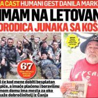 ЦРНА ГОРА: Данило Маркичић - Примам на бесплатно летовање 10 породица јунака са Кошара
