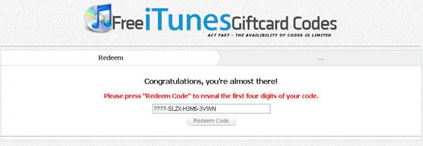 Free Itunes Codes Card Facebook Scam