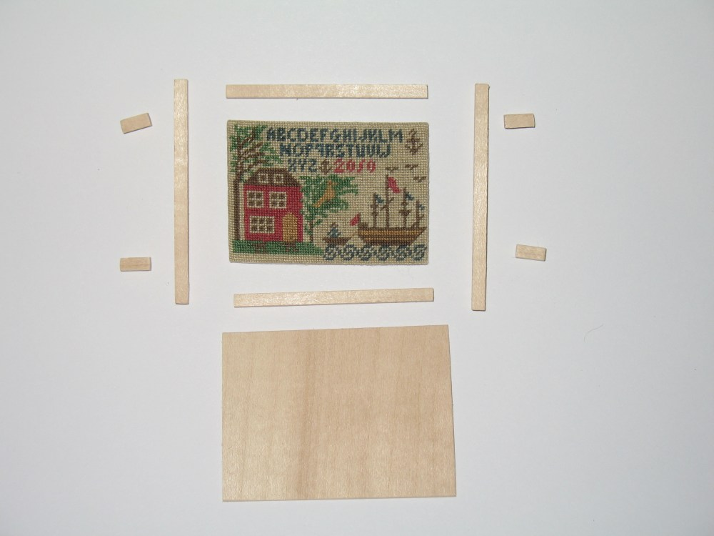 How to Frame a Miniature Needlework Sampler Picture (4/6)