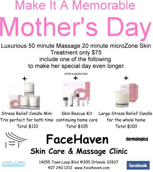 FaceHaven Mother's Day Spa | FaceHaven | Orlando's ...