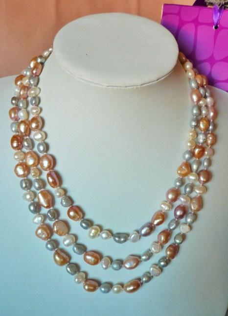 Collar Perlas Tres Vueltas