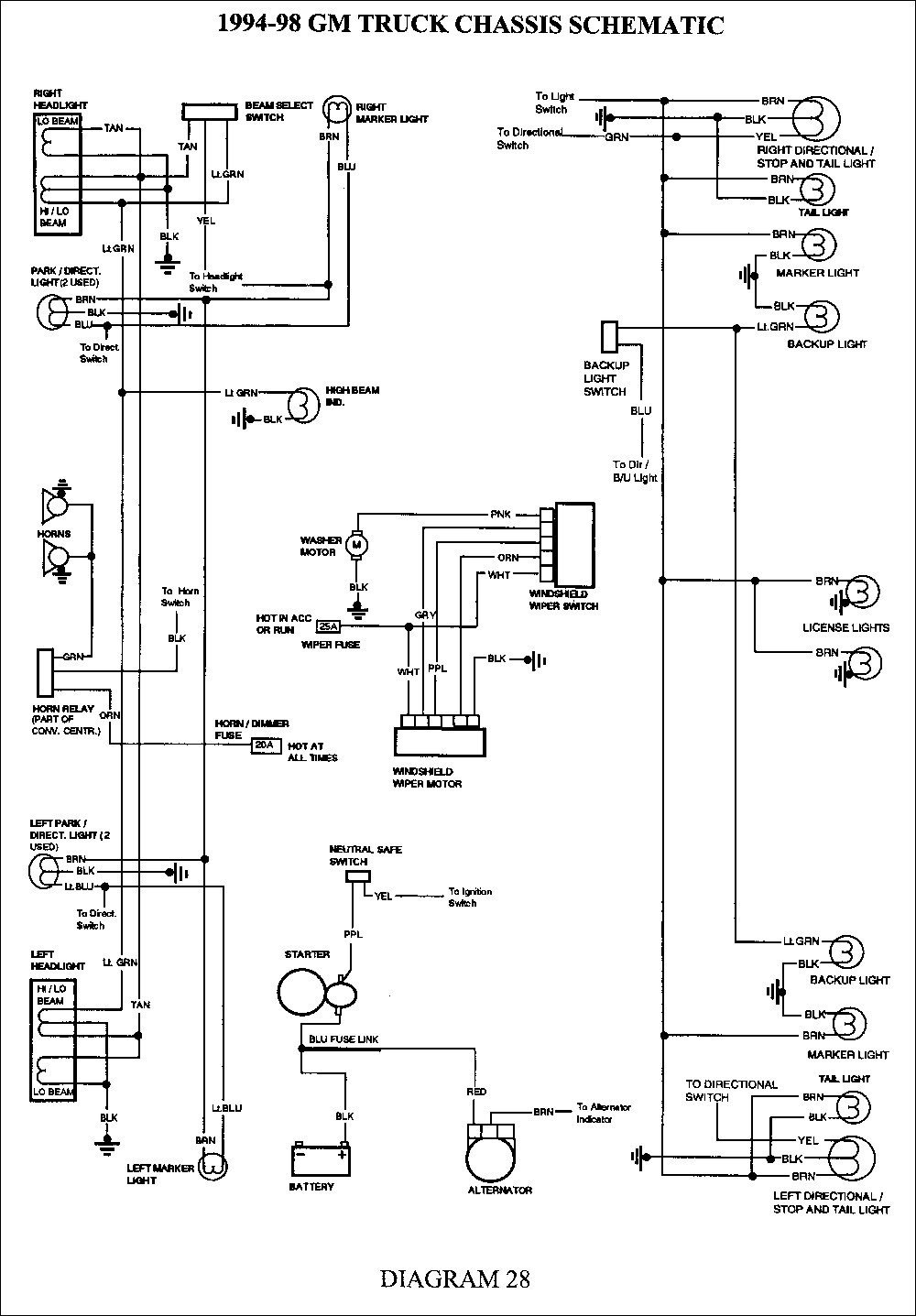 1999 Chevy Silverado Light Wiring Diagram