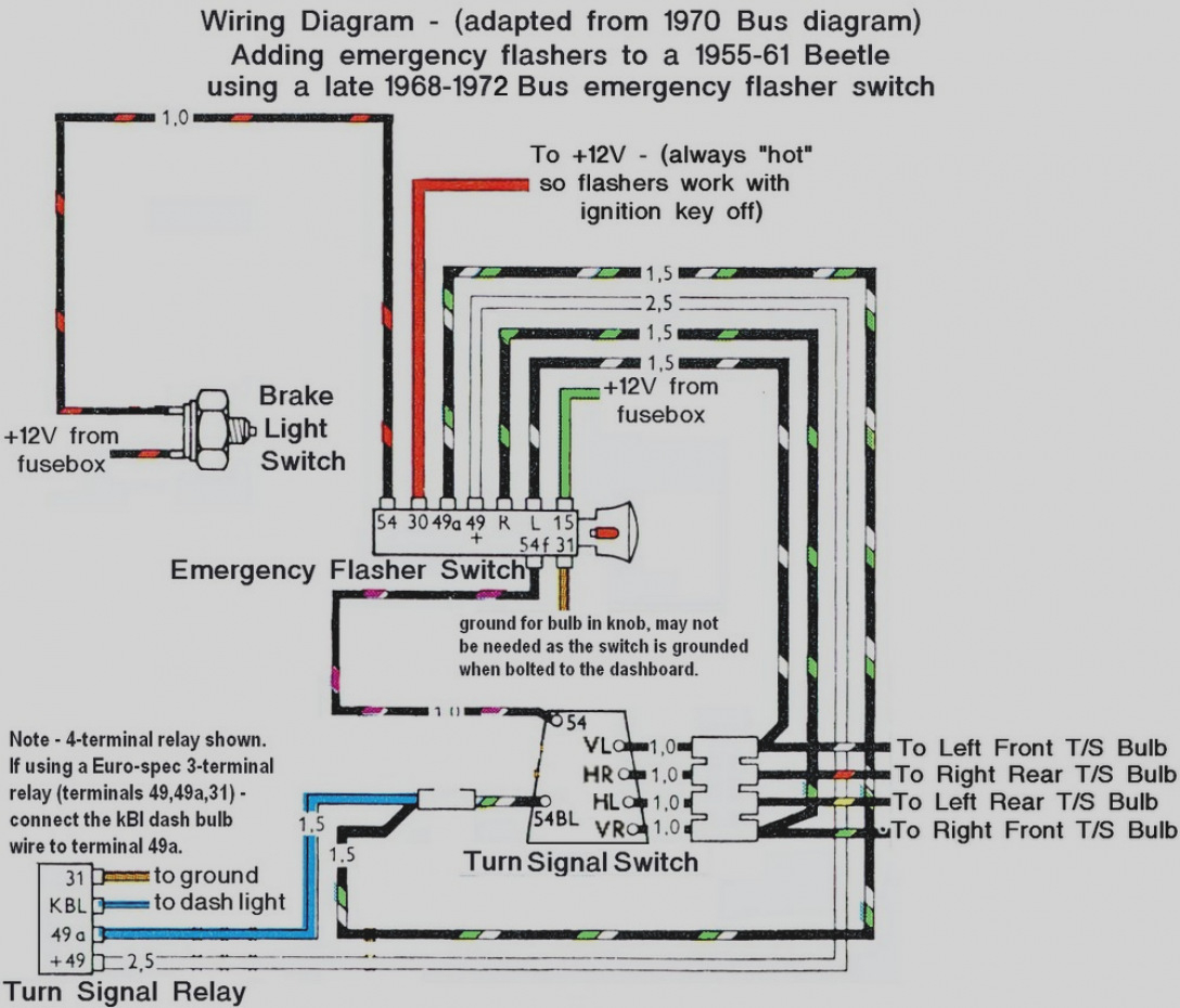 68 Vw Wiring Diagram - Wiring Diagram 500 Wiring Diagram For Ke Light Switch on