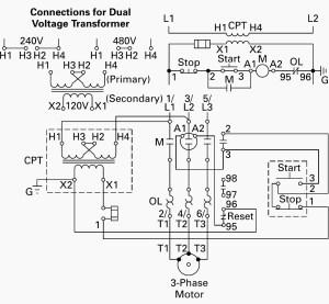 480 Volt to 120 Volt Transformer Wiring Diagram Sample