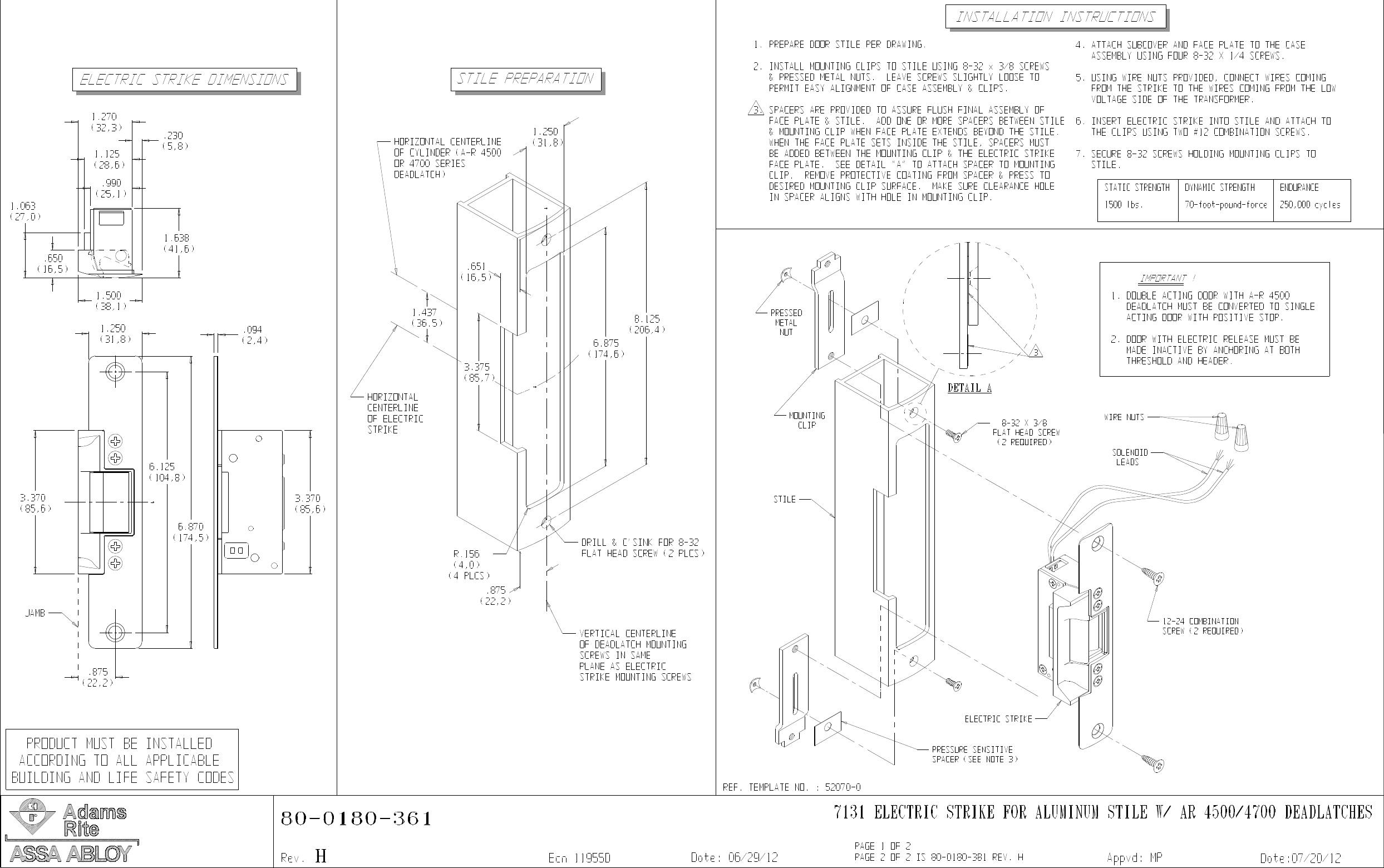 Adams Rite Electric Strike Wiring Diagram Download