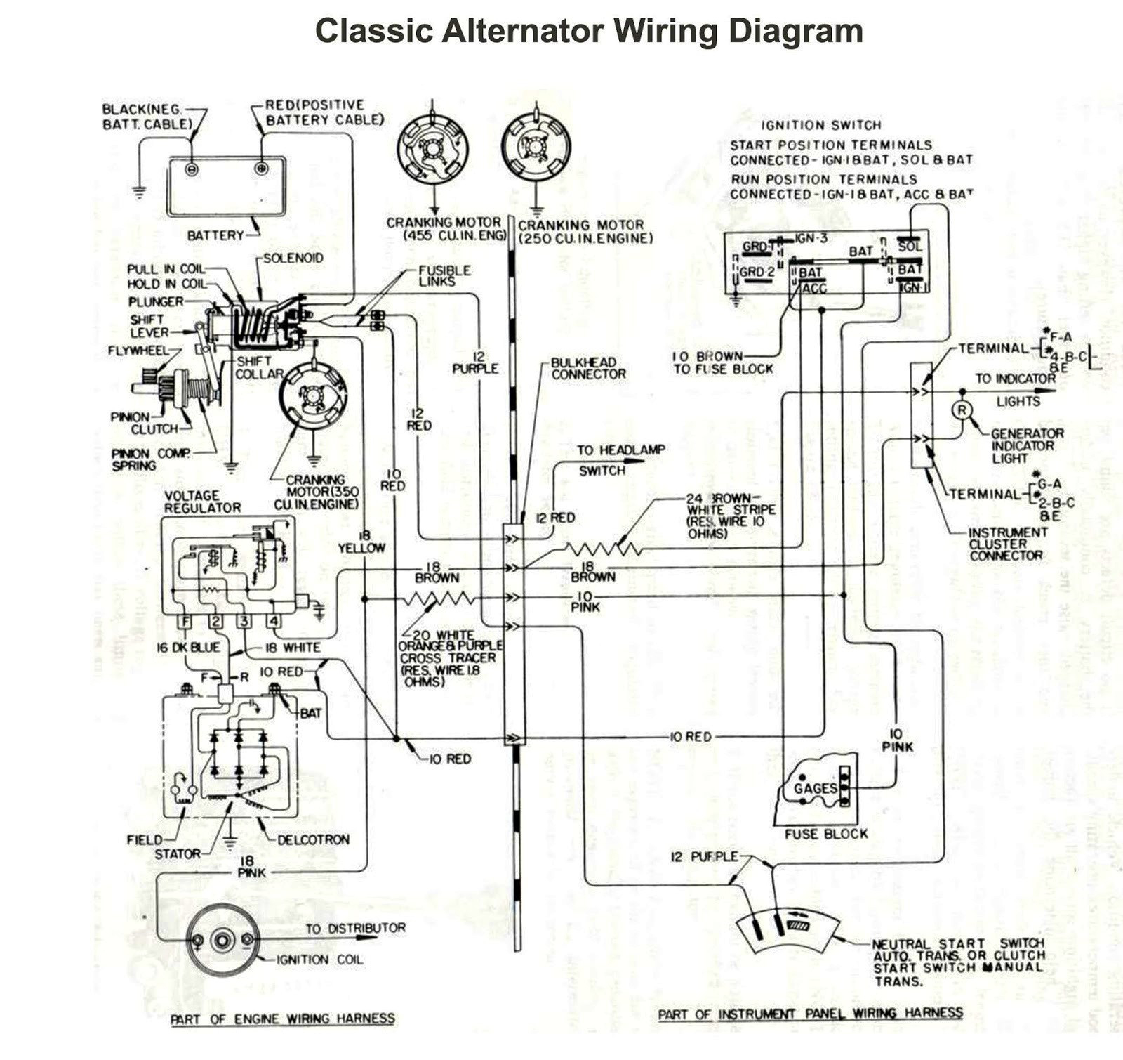 4 Wire Alternator Wiring Diagram Collection