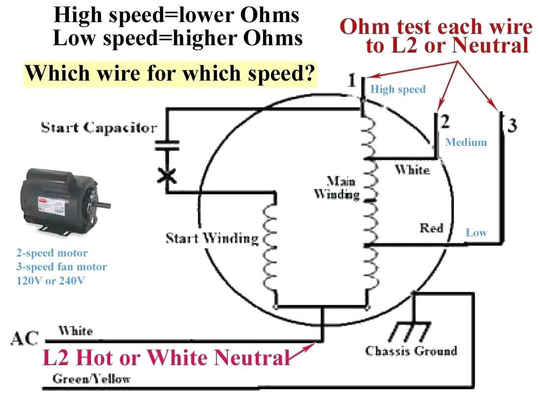 3 Speed Fan Motor Wiring Diagram