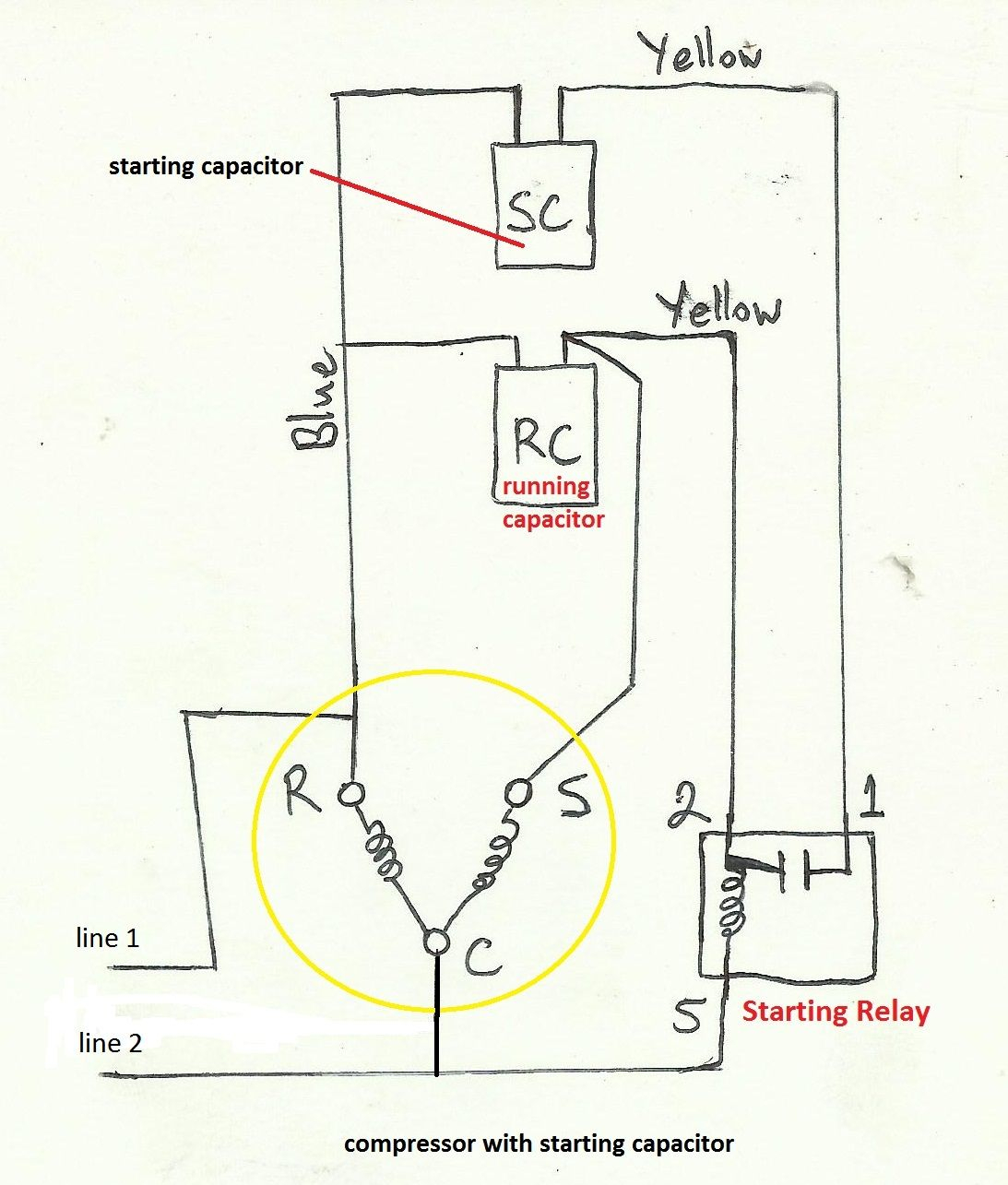 Trane Capacitor Wiring Diagram